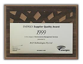 Energex Suppliers Quality Award 1999