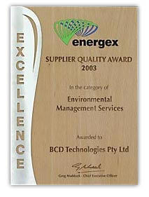 Energex Suppliers Quality Award 2003