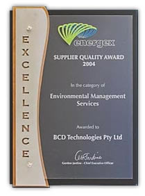 Energex Suppliers Quality Award 2004